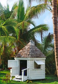 Our tropical Wendy House. Designed by David, loved by all.