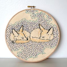 How Foxes Dreamed the World into Being PDF Embroidery Pattern