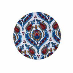 Semerkand Serisi Tekli Ürünler - Karaca Cake Plates, My Design, Decorative Plates, Porcelain, Pasta, Tableware, Europe, Kitchen, Porcelain Ceramics