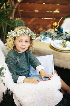 Storybook Soirée: Make your own fairy-tale floral crowns by wrapping eucalyptus leaves, or baby's breath, around wire.