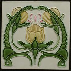 De Dyle - Art Nouveau tile