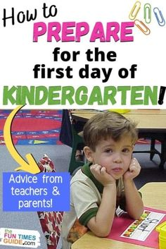 Is your child about to start Kindergarten? Are you (or your child) nervous about the first day of school? Here's what you can expect + How to prepare for your child's first day of Kindergarten -- from parents and teachers who've been through the first day of school with Kindergarteners before! #firstdayofschool #kindergarten #preschool