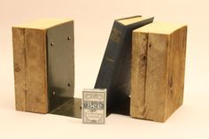 Reclaimed Bookends Oldgrowth Spruce by IronAndWoodside on Etsy, $40.00