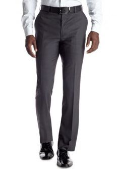 Adolfo  Slim Fit Charcoal Suit Separate Pants