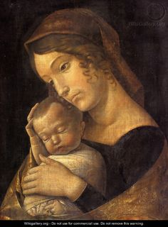 Madonna With Sleeping Child - Andrea Mantegna