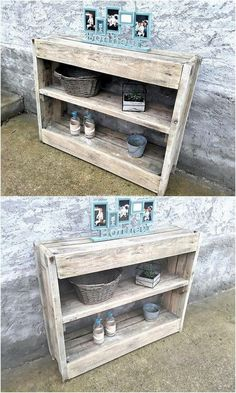 Wood pallet shelving table is greater in demand in many of the houses especially among those who do not prefer using the high expensive furniture set of decorations. You can design a giant size of the wood pallet shelving table design and add it with the effect of the entryway table right into it.