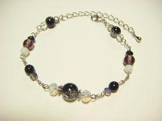 Black and white bracelet beaded bracelet mono tone by Coloramelody