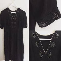New product embroidered crepe dress #fab.#vintagefashion #vintageclothing #ヴィンテージ #ビンテージ #古着#ヴィンテージドレス #ヴィンテージワンピース #刺繍#1940s