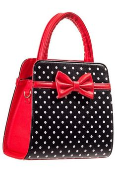 Banned Carla Black/Red Handbag - Gwynnie's Emporium