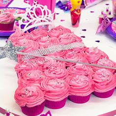 Find out how to make this gorgeous princess cupcake dress for your princess party. Complete this wonderful birthday cake with princess accessories from our lovely range of party supplies.