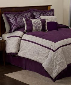 Take a look at this Plum & Gray Delia Comforter Set by Triangle Home Fashions on #zulily today!