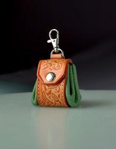 Keychain keyring keyfob keyholder. Tiny Irish by secondstudio