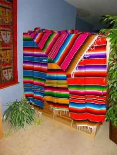 MEXICAN BLANKETS SERAPE Style - 6 Brilliant Color Combinations - 4 x 6 - Great for a variety of projects and events
