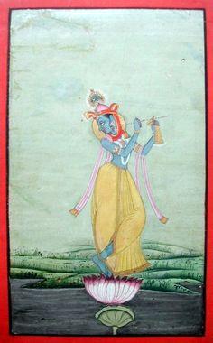 Indian Miniature Paintings - Bikaner Krishna Venugopala from Royal Collection