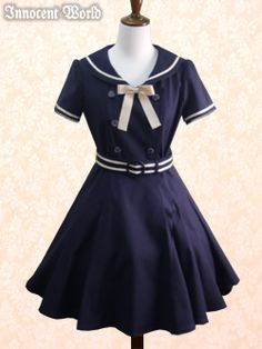 Grosgrain Ribbon Sailor Dress from Innocent World