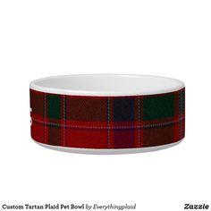 Custom Tartan Plaid Pet Bowl Pet Bowls, Tartan Plaid, Ceramic Bowls, Diy Face Mask, Dog Design, Funny Cute, Keep It Cleaner, Your Pet, Dog Cat