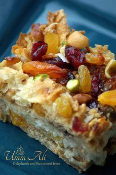 Umm Ali / Om Ali / Egyptian Dessert / Middle Eastern Cuisine - elephants and the coconut trees