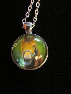 Horse Pendant Necklace or Keychain by EverythingsDuckyBout on Etsy, $9.99