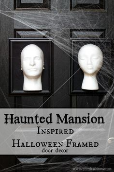Haunted Mansion Inspired Halloween Framed 3D Door Decor #halloween #decor