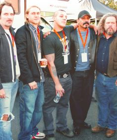 Kim Coates, Charlie Hunnman, Theo Rossi, Emilio Rivera and Mark Boone Junior