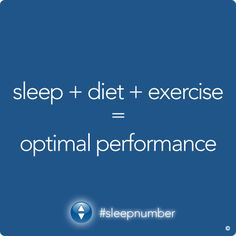 Think of a healthy lifestyle as an equilateral triangle consisting of a balanced diet, regular exercise and 7-8 hours of quality sleep per night. #SleepWell #SleepNumber