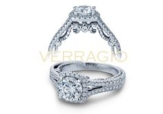 INSIGNIA-7062CU engagement ring from The Insignia Collection of diamond engagement rings by Verragio