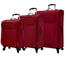 Buy Skyway Mirage 4 Wheel luggage set at RBH. Its full length mesh pockets store small items and elastic tie-down straps keep your belongings at one place.
