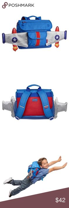 "Kids Rocket Backpack❗️FINAL PRICE❗️ Your kid will be ""over the moon"" with this Rocketflyer Backpack by Bixbee! 12.5"" wide x 4"" deep x 10.5"" high. Material is 600-denier polyester. Perfect for school or if you are traveling with a child! Let me know if you have any questions! PRICE FIRM UNLESS BUNDLED WITH OTHER ITEM(S) 💜INSTAGRAM: @ocaputostyle Bixbee Accessories Bags"