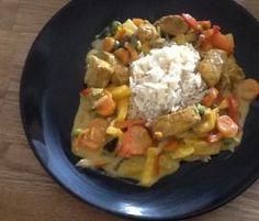 Variation von Kokos-Hähnchen mit Gemüse und Reis von DieShiva auf www.rezeptwelt.de, der Thermomix ® Community