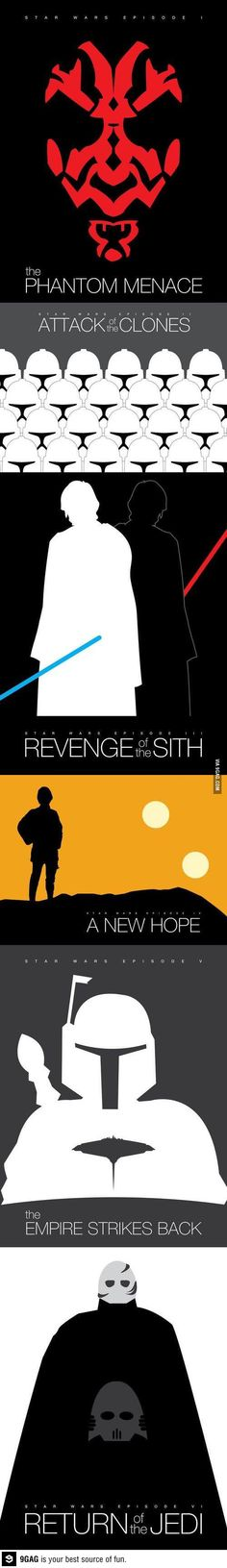 If they ever put the star wars movies back in theaters. These are the posters they need to use.