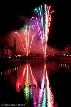 Fuochi d'artificio sull'Arno