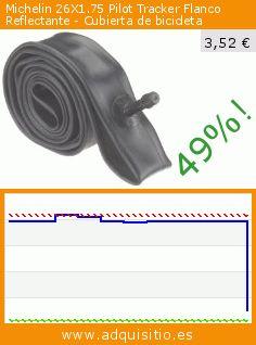 Michelin 26X1.75 Pilot Tracker Flanco Reflectante - Cubierta de bicicleta (Deportes). Baja 49%! Precio actual 3,52 €, el precio anterior fue de 6,90 €. http://www.adquisitio.es/michelin/26x175-pilot-tracker
