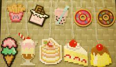 Dessert Perler Necklaces/Magnets/Keychains! Kawaii! French Fries-Chocolate Bar- Boba-Donut- Ice Cream-Sundae - Strawberry Cake - Cake - Flan