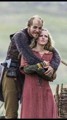 Vikings - Floki (Gustav Skarsgard) & Helga (Maude Hurst)