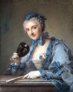 Pastel of Madame Joseph Nicolas Pancrace Royer by Jean Marc Nattier