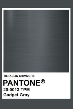 Gadget Gray #Metallic #Pantone #Color Pantone Colour Palettes, Pantone Color, Colour Pallete, Color Schemes, Youtube Banner Design, Colour Board, Grey Paint, Logo Color, Metallic Colors