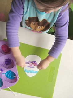 qtip Easter egg craft for   toddlers
