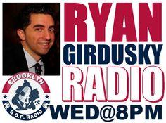 We're handing the reins of Brooklyn GOP Radio to Ryan James Girdusky!  Catch a rising conservative star WED@8PM! We're handing the reins of Brooklyn GOP Radio to Ryan James Girdusky! Catch a rising conservative star WED@8PM! http://brooklyngopradio.blogspot.com/2013/03/ryan-radio-takeover-wed8pm.html