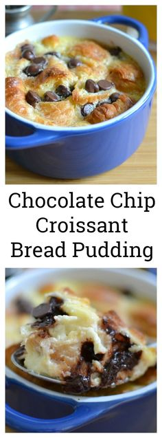 Rich, delicious and packed with bites of chocolate! This decadent dessert is great for any occasion and the custard is to die for! Individual Chocolate Chip Croissant Bread Pudding Recipe plus 6 Other Amazing Dessert Recipes