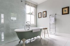 Luxurious bathroom with a hint of mint color
