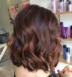 Warm Copper Balayage for Medium Hair