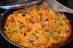 Wurst Pasta, ein sehr schönes Rezept aus der Kategorie Saucen. Bewertungen: 14. Durchschnitt: Ø 4,1.
