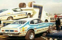Vintage Drag Racing - Pro Stock - Northwest Ford Dealers with Ford Drag Team & Vintage Drag Racing - Pro Stock - The Shotgun Express Ford ... markmcfarlin.com