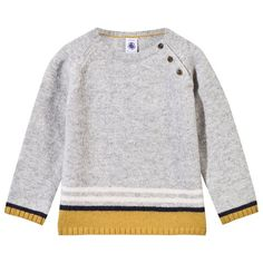 This is gorgeous for a little boy, thinking of Billy :) Alex and Alexa | Petit Bateau Grey and Yellow Stripe Jumper