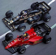 You will ❤ MACHINE Shop Café... ❤ Best of Racing @ MACHINE ❤ (1984 Lotus 95T & Ferrari 126C4)