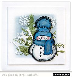 Penny Black Christmas Cards with Snowman Dyi Christmas Cards, Black Christmas, Holiday Cards, Holiday Fun, Christmas Crafts, Penny Black Karten, Penny Black Cards, Winter Karten, Snowman Cards