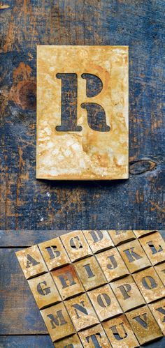 Metallic typography: letter R. Slab Serif Fonts. $5.00