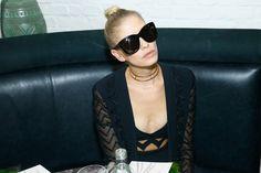 Elena Perminova Photos Photos - Elena Perminova attends a dinner to launch the luxury British eyewear brand SS17 campaign during Paris Fashion Week at Alcazar Club on October 3, 2016 in Paris, France. - Linda Farrow Paris Fashion Week Dinner And After Party