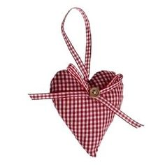 Scandinavian christmas hearts | Scandinavian Style Christmas Padded Heart Decoration