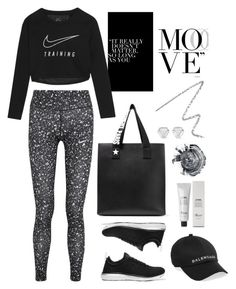 """""""Move"""" by cherieaustin ❤ liked on Polyvore featuring NIKE, Athletic Propulsion Labs, Givenchy, Balenciaga, Baxter of California, Suzanne Kalan and Burberry"""